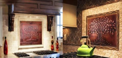 Beautiful Handmade Copper Tiles
